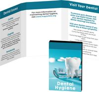 116057820-134 - Awareness Tek Booklet with Tooth Shaped Dental Floss With Key Chain - thumbnail