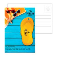 155956925-134 - Post Card With Full-Color Orange Flip Flop Luggage Tag - thumbnail