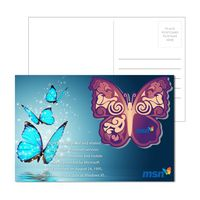 195956900-134 - Post Card with Full Color Butterfly Coaster - thumbnail