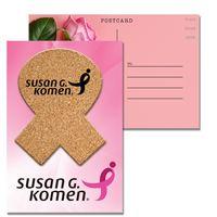 365956394-134 - Post Card with Awareness Ribbon Cork Coaster - thumbnail