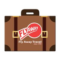 545341363-134 - Suitcase Shaped Luggage Tag - thumbnail