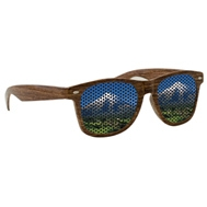 594707115-134 - LensTek Wood Grain Miami Sunglasses - thumbnail