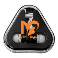 914709037-134 - Colorful Ear Buds with Matching Triangle Case - thumbnail