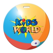 985074445-134 - Beach Ball Shaped Luggage Tag - thumbnail
