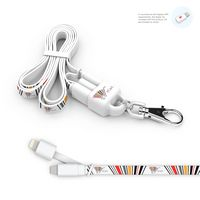 715904766-107 - Lanyard : 2-in-1 Lanyard and Micro USB Charging Cable w/ Apple Lightning Tip - thumbnail