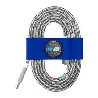195715137-817 - Toddy Tie Organizer and Cable Kit - USB-C to USB (Blue) - thumbnail