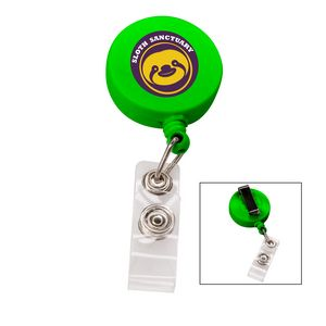 366524851-817 - the Essentials Retractable Badge Holder - Green - thumbnail
