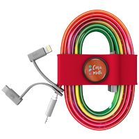 586178196-817 - Toddy Tie and Cable w/ Type C and Mfi Adapter - Red - thumbnail